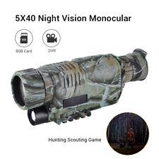 BOBLOV 5x40 Night Vision Monocular 8GB DVR With Adjustable Focus for Hunting