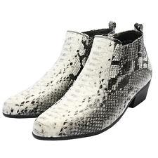 Men's Dress Shoes Antonio Cerrlli 5159 Zippered Boots Cuban Heel snake