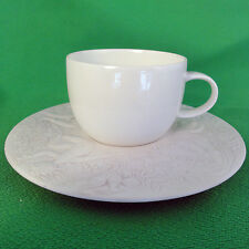 """MAGIC FLUTE Rosenthal Sarastro White Espresso Cup/Saucer 1.75"""" tall NEW IN BOX"""
