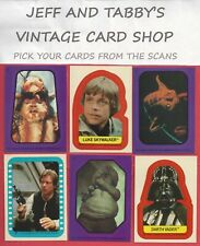 1983 STAR WARS RETURN OF THE JEDI STICKERS YOU PICK FROM SCANS