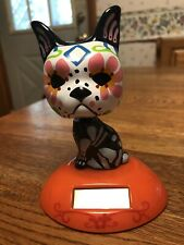 Large Solar Powered Dancing Bobblehead Toy - HALLOWEEN Day Of The Dead DOG