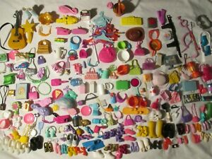 Lot Misc. Doll & Dollhouse Items Barbie Shoes Hangers