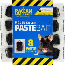 RACAN 8 x POISON PASTE BAIT SACHETS FOR FAST MOUSE CONTROL - ALPHACHLORALOSE