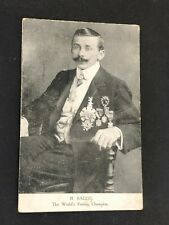 Ricardo Sacco World's Fasting Champion Hunger Artist WW1 Europe Circus Postcard
