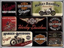 Harley Davidson Motorrad Amerika Nostalgie Kühlschrank Magnet Set 9-teilig MAG17