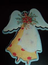 ANGEL MAGNET  THICK FIBER BOARD  DOUBLE LAYER  RED FLORALS