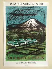 BERNARD BUFFET RARE VTG 1980 LITHOGRAPH PRINT MOURLOT AU JAPON EXHBTN POSTER