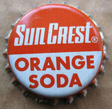 SUN CREST ORANGE SODA unused Cork-lined CROWN, Bottle CAP