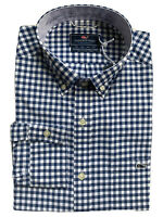 VINEYARD VINES Mens Performance Tucker Whale Shirt Classic Fit Blue NWT MEDIUM