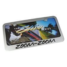 Mazda Zoom Zoom Chrome Brass License Plate Frame