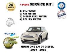 Per BMW MINI 1.6 TD DIESEL 2007-2010 Olio Aria Carburante Polline Filtro (4) kit di servizio