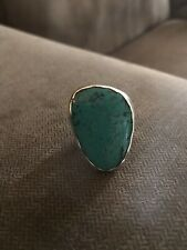 SILPADA Sterling Silver TUMBLED TURQUOISE Statement Ring R2017 size 6. New!