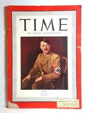 Apr 14 1941 TIME Magazine- Hitler Spring Is Here on Cover- News/Photos/Ads