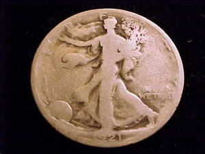 1921-D Walking Liberty Half Dollar.  Affordable About Good Grade.