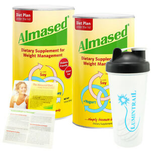 Almased Multi Protein Powder Supplement Supports Weight Loss 2 Pack with Shaker