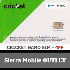 Cricket Wireless Nano Sim Card 4Ff • Gsm 4Glte • New Oem • At&T Network Mvno