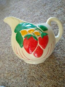 Vintage 1940's American Bisque Co. Strawberry Ball Pitcher