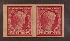 Scott 368 - 2 Cents Lincoln - OG MH - Imperf Pair - SCV - $27.50