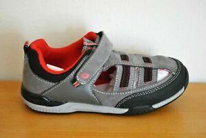 Stride Rite Boys' Grady Gray Hook & Loop Memory Foam Sandals - Size 11