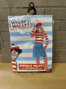 WHERES WALLY DRESS UP WITH SKIRT,TIGHTS,TOP,HAT AND GLASSES USED COND SEE DESCRI