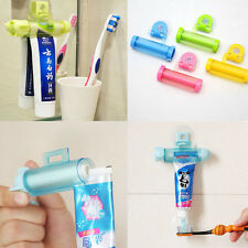 Toothpaste Tube Dispenser Partner Rolling Squeezer Holder Sucker Bath Accessory