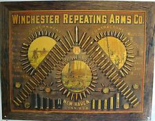 Vintage Replica Tin Metal Sign Winchester gun ammo case bullet Rifle Pistol 2177