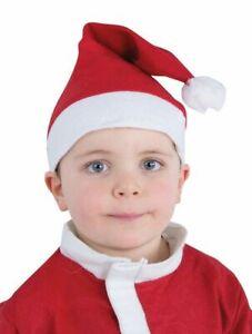 Bonnet Père Noël Classique Rouge/Blanc (Taille ENFANT)