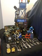Huge Toy Lot With Police, Swat Team, Guns, Jeep, Jail And Tower