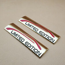 2Pcs Metal Gold LIMITED EDITION Logo Badge Fender Trunk Car Emblem Sticker Decal