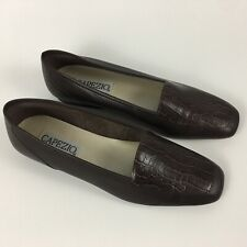 Capezio Jenny Women's Loafers Size 9N Brown Crocodile Flats Shoes