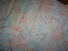 Vintage Full Fitted Sheet & 2 Pillowcases Lady Pepperell Tropical Fern Leaves
