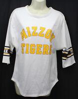Mizzou Tigers Shirt Top Victoria's Secret PINK Jersey White Univ Missouri New XS
