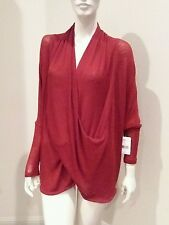 Free people mohagany combo cowl neckline sweater sz XS NWT