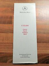 1993 Mercedes-Benz C Class W202 Price List - C220 C180 C220D C250D AMG