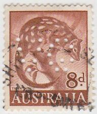 (PDX572) 1959 AU 8d Brown Tiger Cat (H)