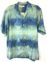 Tommy Bahama Size L Mens Hawaiian Shirt Floral Pattern 100% Silk