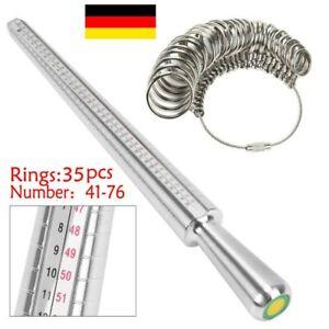 Ringmaß Ringmesser Ringstock Finger Ring Gauge Messer Ringmessgerät Größe Neu DE