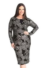 Mid-Calf Stretch, Bodycon Floral Dresses for Women