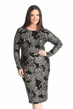 Polyester Clubwear Plus Size Dresses for Women