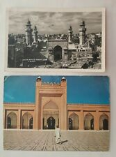 PAKISTAN lot of 2 picture cards 1960 with Wazir Khan´s Mosque temple Lahore