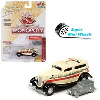 Johnny Lightning 1:64 POP CULTURE - MONOPOLY 1933 FORD PANEL DELIVERY & TOKEN