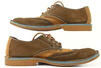 Sperry Top-Sider Men's Suede Leather Nubuck Wingtip Oxford 9.5 M Lace Up Shoes