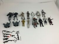 Star Wars Action Figure Lot 15 Pc  Kenner Hasbro Droids Troopers 1995 2010 Weapo