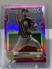 Yu Darvish 2021 Bowman Chrome #16 Fuchsia Refractor SP 243/299 San Diego Padres