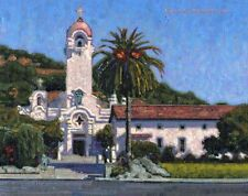 COLOR PRINT OF OIL PAINTING, CALIFORNIA MISSION #3