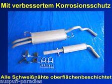 Abgasanlage Auspuff Seat Toledo II 1.6 & 1.6 16V Typ 1M2 (74KW & 77KW) +Anbaukit