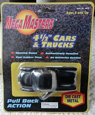 "RARE MAISTO MEGA MASTERS PULL BACK 4 1/2"" BLACK CORVETTE ***NEW IN PKG!***"