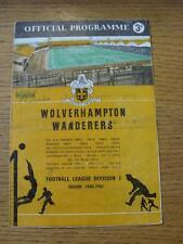 10/11/1990 Wolverhampton Wanderers v Tiflis Dynamo [Friendly] (Writing On Front,
