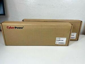 2 x CyberPower PDU20MT2F8R | Metered PDU 100-125V 20A 1U, 10 Plugs, NEW