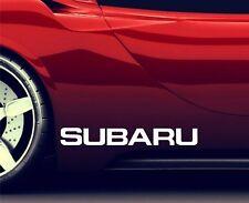 2x ADESIVI Gonna Laterale Si Adatta Subaru Impreza Premium Qualità Decalcomanie RA92